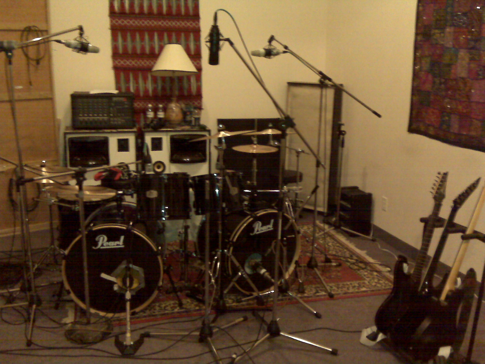 Live room setup, Forgive the Fallen, Studio A, Kitchener recording studio