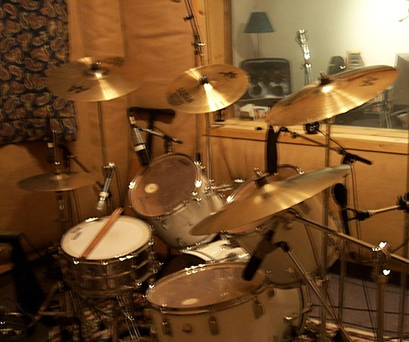 Studio A, Kitchener recording studio, EOG Drums
